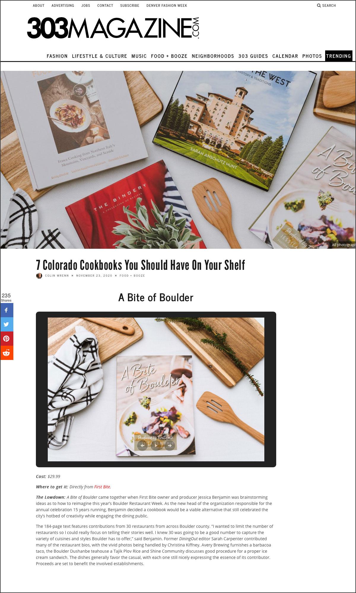 303 Magazine Gift Guide