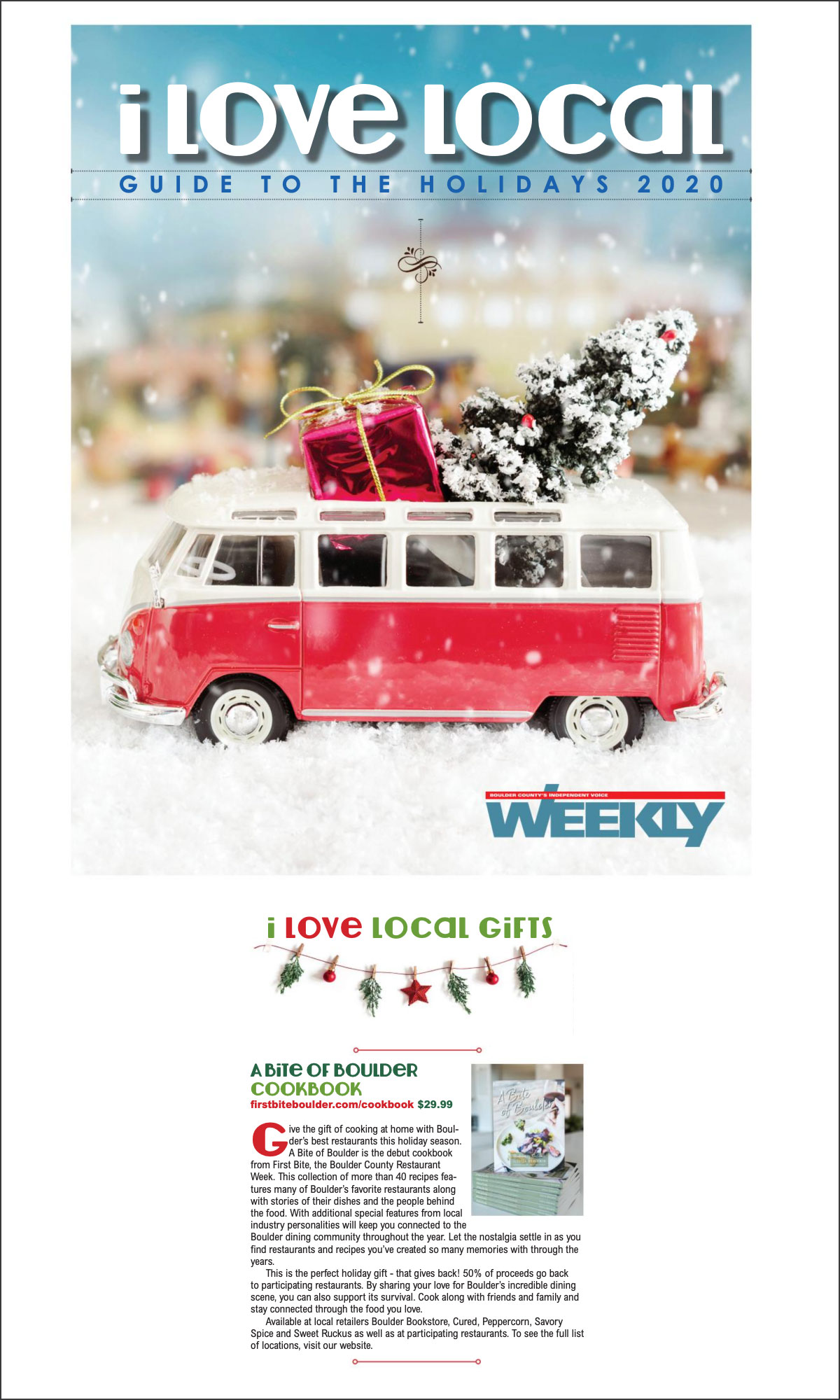 Boulder Weekly: I Love Local Gift Guide