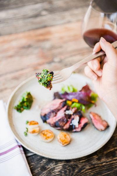 chimichurri steak from Blackbelly