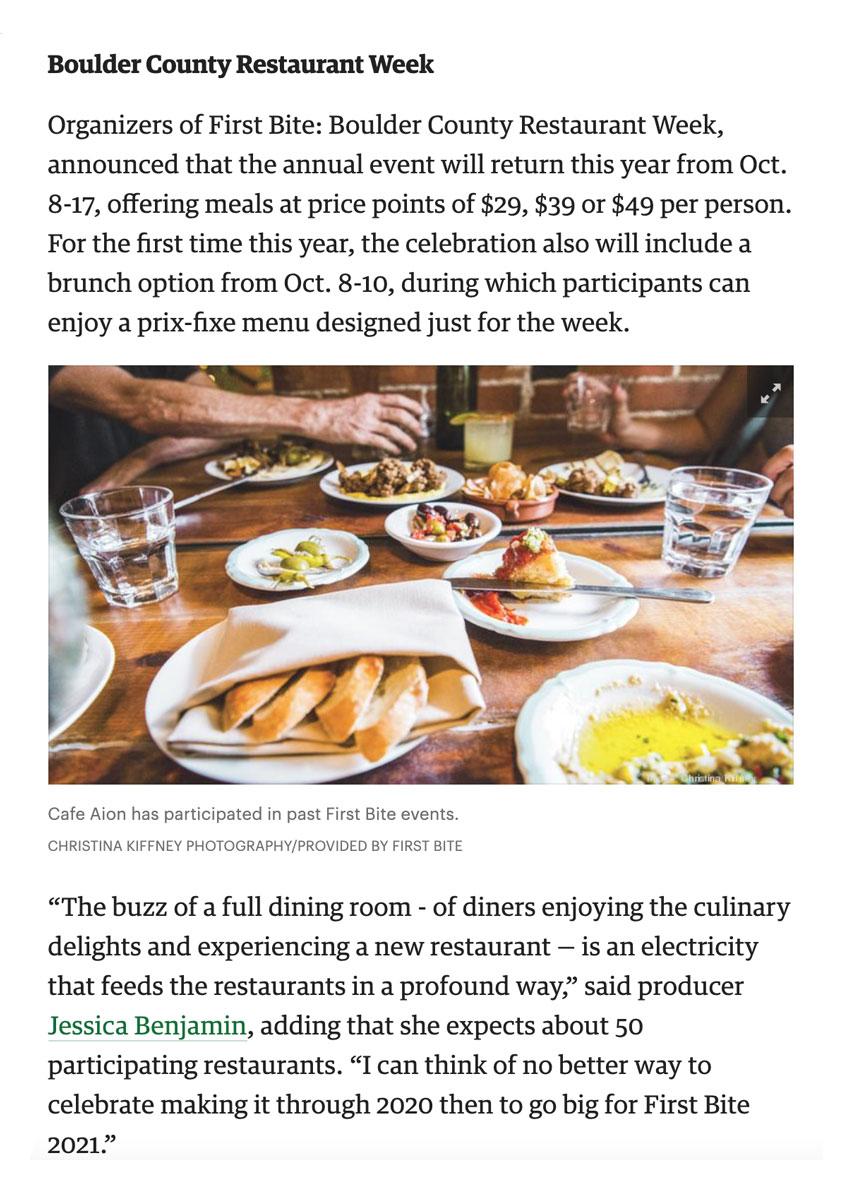 Denver Business Journal: First Bite 2021