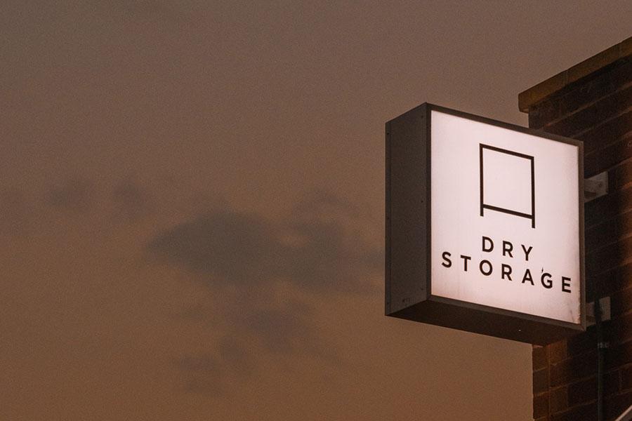 Dry Storage sign