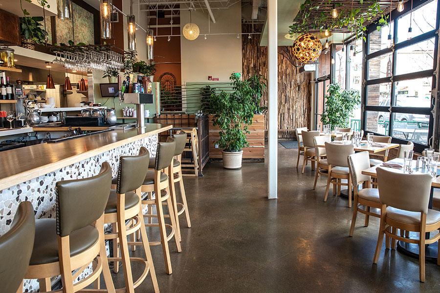 Leaf Vegetarian restaurant interior