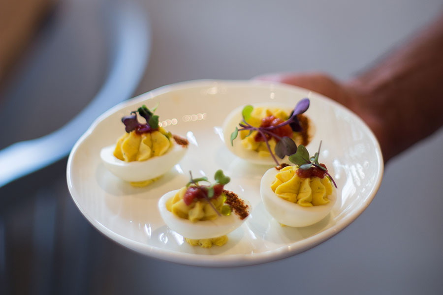 River and Woods deviled eggs